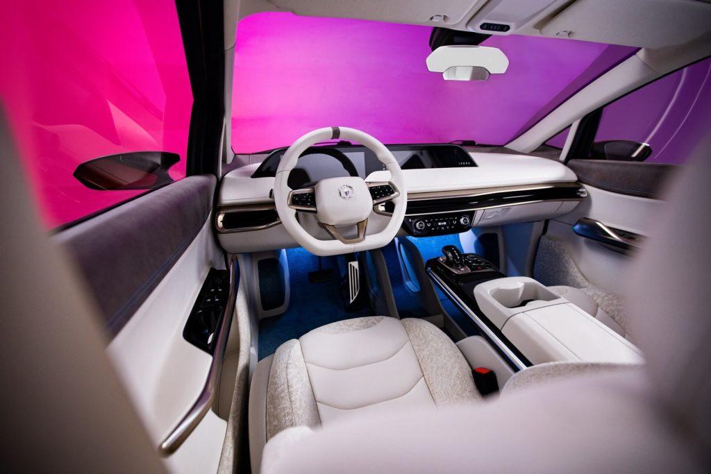 Izera car - interior view