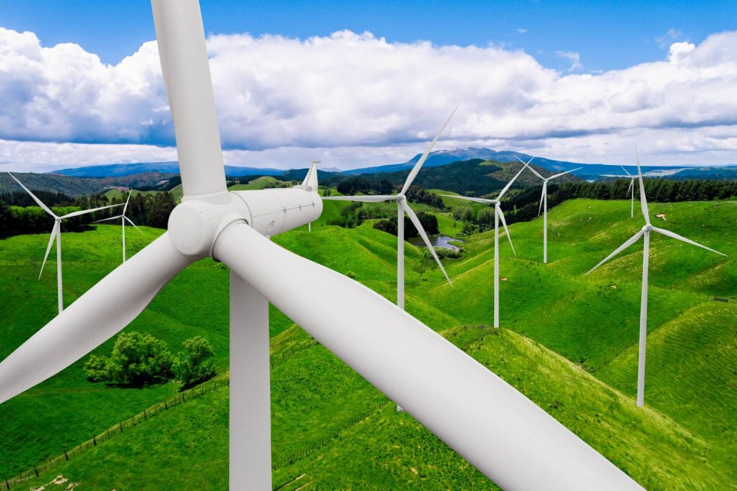 wind power energy from the wind turbine
