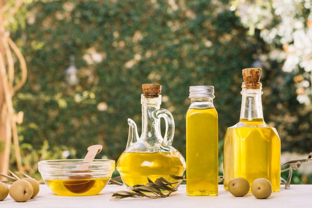 bio organic olive oil in bottles